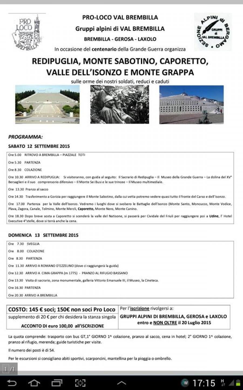 Gita a Redipuglia, Monte Sabotino, Caporetto e Valle dell'Isonzo.